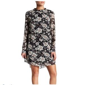 ASTR The label floral long sleeves mini dress XL